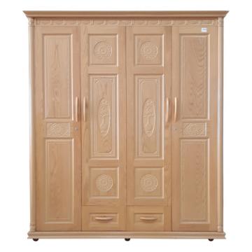 Tủ áo gỗ ghép phủ sồi 1m8