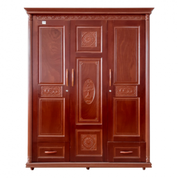 Tủ áo gỗ ghép phủ sồi 1m6